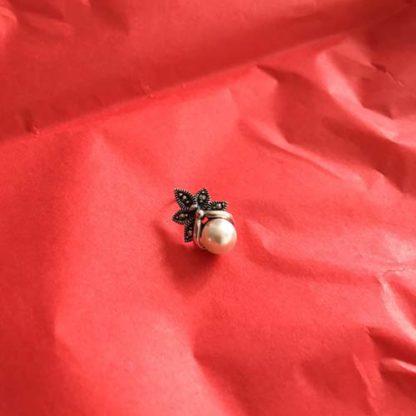 Marcasite pearl pendant