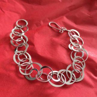 Circles silver bracelet