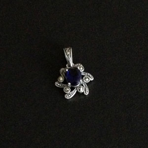 Marcasite sapphire pendant
