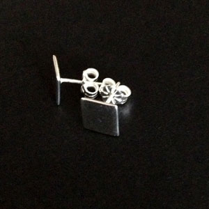 Sterling silver squared earrings