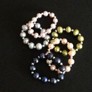 pearl and silver rings