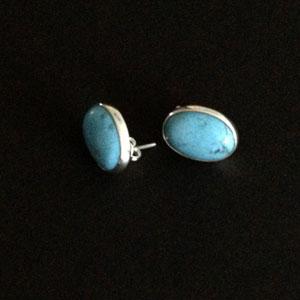 Silver turquoise earrings