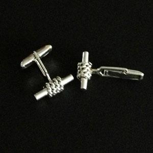 twisted silver cufflinks
