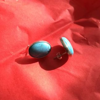 Turquoise Silver Studs