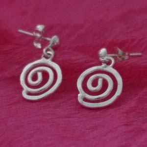 Maze silver earrings