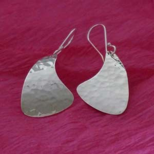 dangle hammered earrings