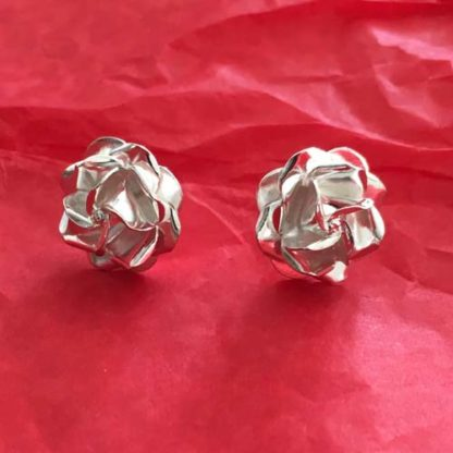 Rose silver studs