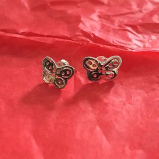 Butterfly silver earrings