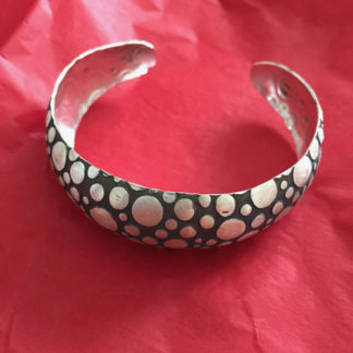 Dotted Silver Bangle