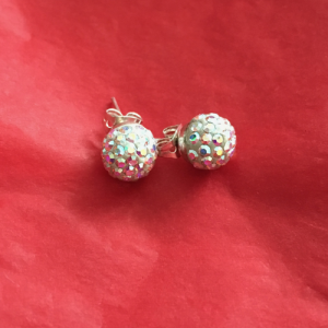 Silver Sparkly Studs