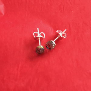 Silver Studs With Gem