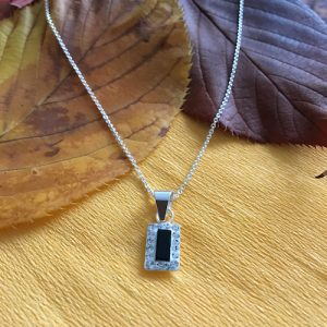 Silver with onyx necklace