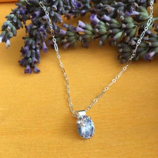 Silver zirconia necklace