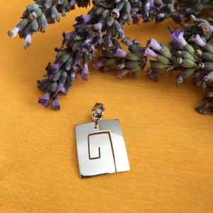 Silver maze pendant