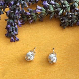 Silver knot studs