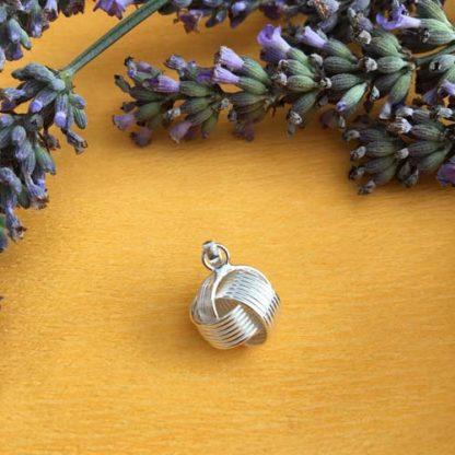 Knot silver pendant