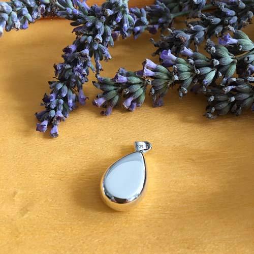 Drop silver pendant