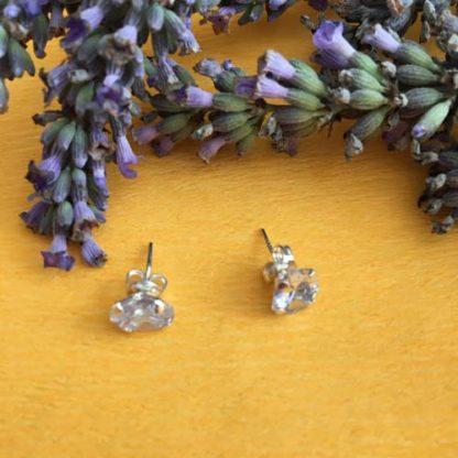 Silver zirconia earrings
