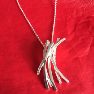 Six strand silver necklace