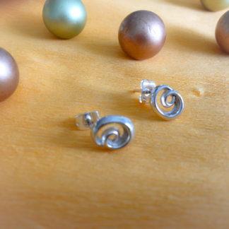 Spiral silver studs