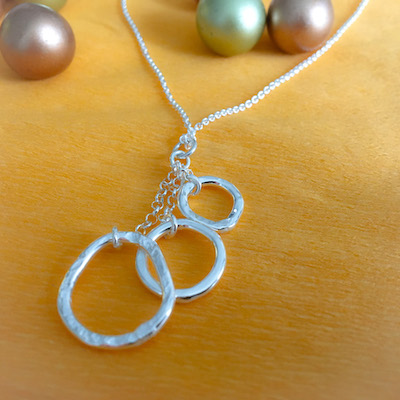 Hoops silver necklace